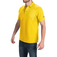 Barbour International Cotton Polo Shirt - Short Sleeve (For Men) in Yellow - Closeouts