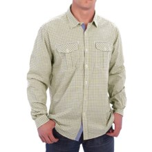 Barbour International Davison Gingham Print Shirt - Cotton, Button Front, Long Sleeve (For Men) in Burnt Olive - Closeouts