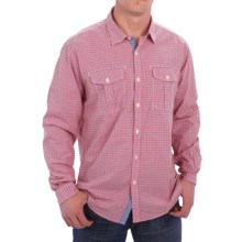 Barbour International Davison Gingham Print Shirt - Cotton, Button Front, Long Sleeve (For Men) in Chilli Red - Closeouts