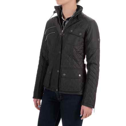 Barbour International Fireblade Quilted Jacket - Insulated (For Women) in Black - Closeouts