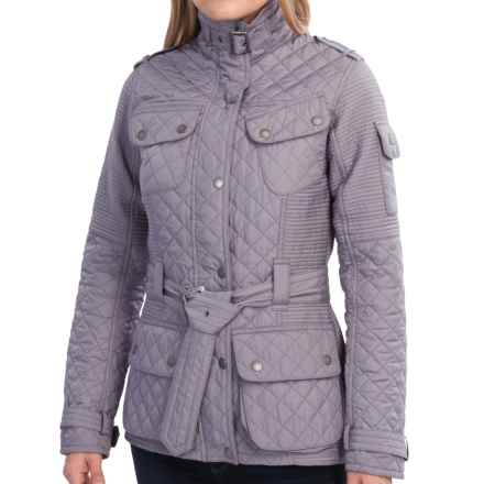 Barbour International Folco Cruiser Moto Jacket (For Women) in Pewter - Closeouts