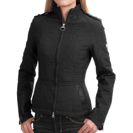 Barbour International Folco Extractor Quilted Moto Jacket (For Women) in Black - Closeouts