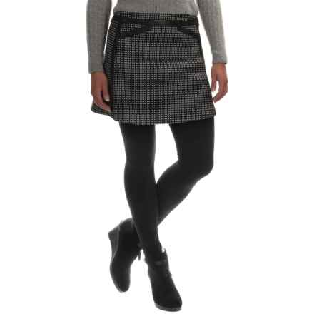 Barbour International Folco Skirt (For Women) in Black/White - Closeouts