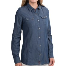 Barbour International Gosfield Jean Shirt - Long Sleeve (For Women) in Indigo - Closeouts