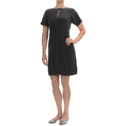 Barbour International India Shift Dress - Silk, Short Sleeve (For Women) in Black - Closeouts