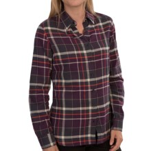 Barbour International Iris Paid Shirt - Long Sleeve (For Women) in Purple Check - Closeouts