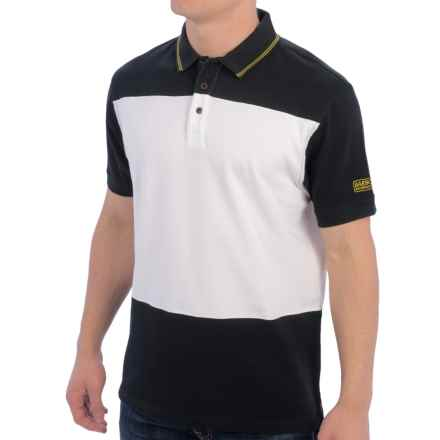 Barbour International Kilby Polo Shirt - Short Sleeve (For Men) in Black - Closeouts