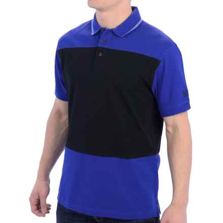 Barbour International Kilby Polo Shirt - Short Sleeve (For Men) in Bright Blue - Closeouts