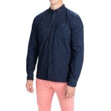 Barbour International Lampkin Denim Shirt - Slim Fit, Long Sleeve (For Men) in Rinse - Closeouts