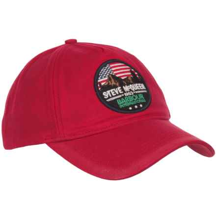 Barbour International Larson Logo Baseball Cap (For Men) in Crimson - Closeouts