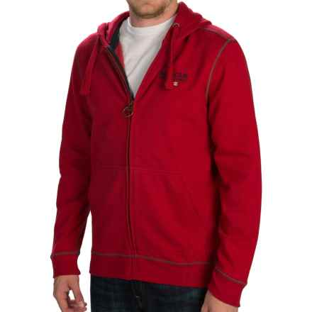 Barbour International Longford Hoodie - Full Zip (For Men) in Chilli Red - Closeouts