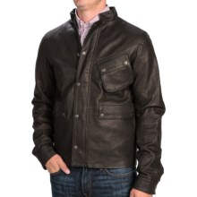 Barbour International Louston Leather Jacket (For Men) in Black - Closeouts