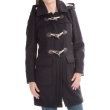 Barbour International Mission Wool Duffle Coat (For Women) in Navy/Natural - Closeouts