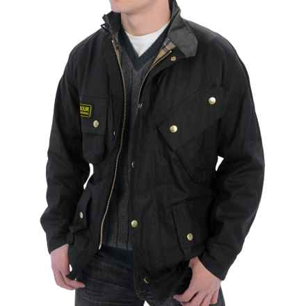 Barbour International Original Lined Jacket - Sylkoil Waxed Cotton (For Men) in Black - Closeouts