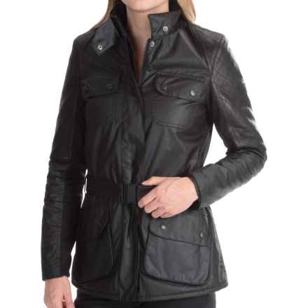 Barbour International Outrider Jacket - Waxed Cotton (For Women) in Black - Closeouts