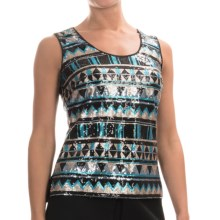Barbour International Panafina Sequin Tank Top (For Women) in Matt - Closeouts