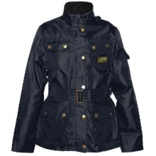 Barbour International Rainbow Belted Jacket (For Kids) in Navy - Closeouts