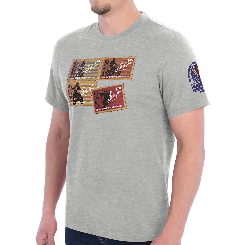 Barbour International Stamp Printed T Shirt Cotton