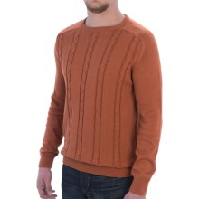 Barbour International Steve Cable-Knit Sweater - Cotton-Cashmere (For Men) in Burnt Mustard - Closeouts