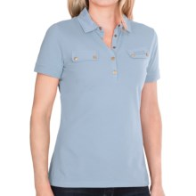 Barbour International Stretch Cotton Polo Shirt - Short Sleeve (For Women) in Delphinium - Closeouts