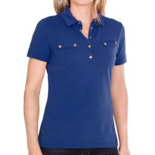 Barbour International Stretch Cotton Polo Shirt - Short Sleeve (For Women) in Indigo - Closeouts