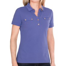 Barbour International Stretch Cotton Polo Shirt - Short Sleeve (For Women) in Loch Blue - Closeouts