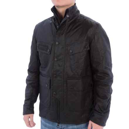 Barbour International Trail Quilted Jacket - Ecowax Cotton (For Men) in Black - Closeouts