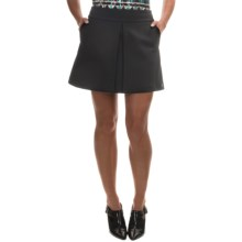 Barbour International Valve Heavy Ponte Skirt (For Women) in Black - Closeouts
