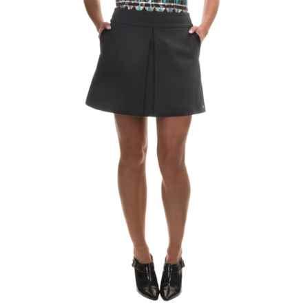 Barbour International Valve Heavy Ponte Skirt (For Women) in Black - Closeouts
