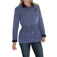 Barbour International Vintage Jacket - Sylkoil Waxed Cotton (For Women) in Cadet Blue - Closeouts