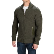 Barbour International Westall Sweater Jacket - Wool, Full Zip (For Men) in Military Olive - Closeouts