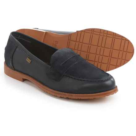 Barbour Jasmine Loafers - Leather (For Women) in Navy/Suede - Closeouts