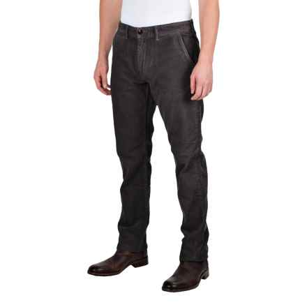 Barbour Joshua Slim Leg Corduroy Trousers (For Men) in Dark Navy - Closeouts