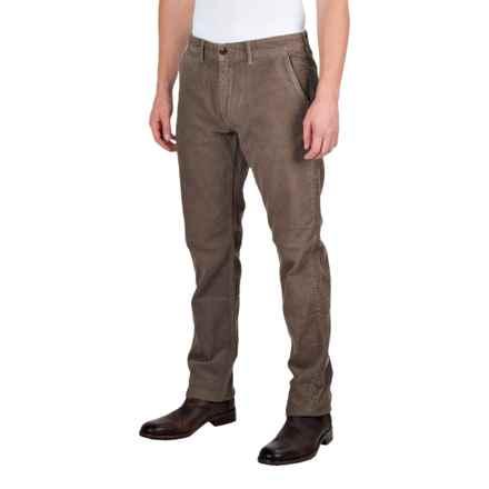 Barbour Joshua Slim Leg Corduroy Trousers (For Men) in Dark Olive - Closeouts