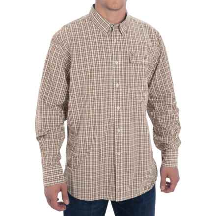 Barbour Journey Shirt - Button Front, Long Sleeve (For Men) in Military Brown Check - Closeouts