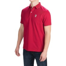 Barbour Jump Pique Polo Shirt - Short Sleeve (For Men) in Chilli Red - Closeouts