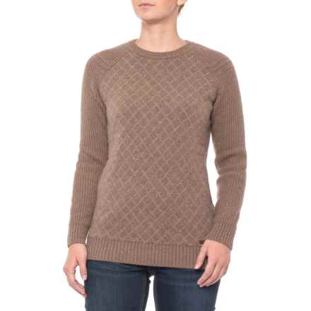 Barbour Juno Lambswool Sweater - Crew Neck (For Women) in Brown - Closeouts