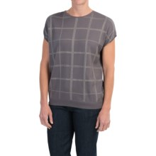 Barbour Katrine Tank Sweater - Short Sleeve (For Women) in Pewter - Closeouts