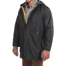 Barbour Kellen Waxed-Cotton Jacket (For Men) in Navy - Closeouts