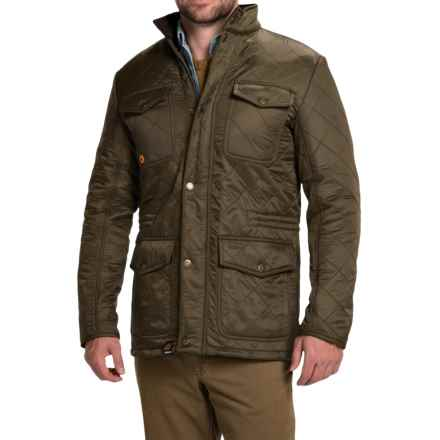 Barbour Kendle Quilted Jacket - Fleece Lined (For Men) in Olive - Closeouts