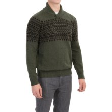 Barbour Kersal Sweater - Wool Blend, Shawl Neck (For Men) in Seaweed - Closeouts