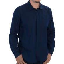Barbour Keston Shirt - Spread Collar, Long Sleeve (For Men) in Navy - Closeouts