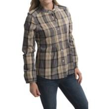 Barbour Kingfisher Cotton Shirt - Long Sleeve (For Women) in Dress Tatan - Closeouts
