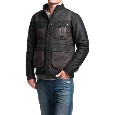 Barbour Kirknasu Waxed-Cotton Jacket (For Men) in Black - Closeouts