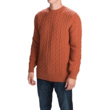 Barbour Lambswool Pantone Cable Sweater (For Men) in Russett - Closeouts