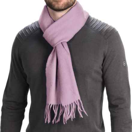 "Barbour Lambswool Scarf - 72x10"" (For Men and Women) in Pink - Closeouts"