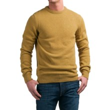 Barbour Lambswool Sweater - Crew Neck (For Men) in Mustard, Richardson - Closeouts