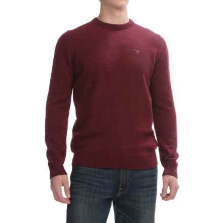 Barbour Lambswool Sweater - Crew Neck (For Men) in Ruby, Richardson - Closeouts