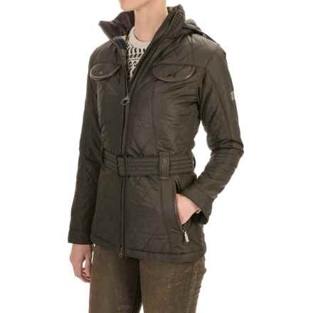 Barbour Land Rover Clovencrag Quilted Coat - Insulated (For Women) in Olive - Closeouts