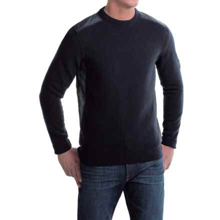 Barbour Land Rover Crook Lambswool Sweater - Crew Neck (For Men) in Dark Navy - Closeouts